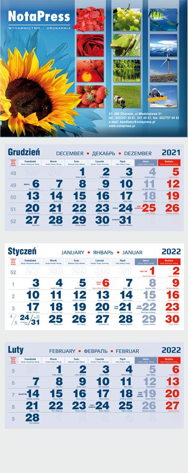 kalendarium trójdzielne na kalendarzu zdjęcie